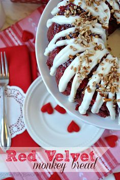 Red Velvet Monkey Bread | We gobbled. this. up. It is absolutely AMAZING. It's soft, and warm, and perfectly gooey. Possibly the best monkey bread I've ever eaten!