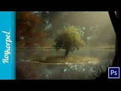 Tree brush Practice tutorial - Photoshop speedart - time-lapse - how-to - YouTube