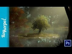 Sweet Little Tree | Photoshop Cs6 Tree brush Practice tutorial / Speed p...