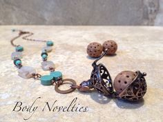 Diffuser necklace essential oils pendant Bali by Bodynovelties ✿. ✿