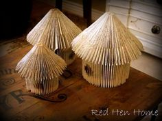 Bird house  My Passion for Book Page Crafts - Town & Country Living