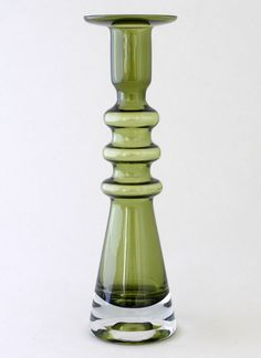 "NANNY STILL - Candleholder ""Pagoda"" 1946 designed 1968 for Riihimäen Lasi Oy, in production Finland."