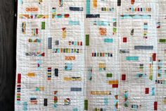 Modern take on the traditional log cabin quilt