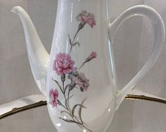Pink Carnations, Cottage, Tea Pots, Tableware, Dinnerware, Cottages, Dishes, Tea Pot, Cabin