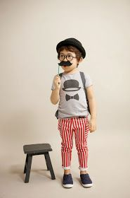 Fantastic stripe pants and tee by Color Me WHIMSY - Asian kids fashion