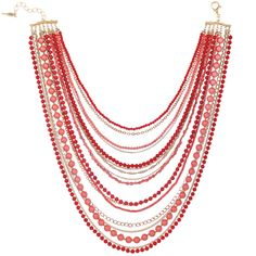 Multi Strand Coral Bib Necklace ~ Chloe + Isabel http://ashleywicks.chloeandisabel.com