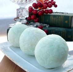 Soap balls olive oil soap balls handmade cold processed vegan