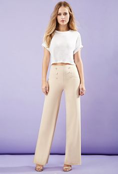 FOREVER 21 wide-leg sailor pants