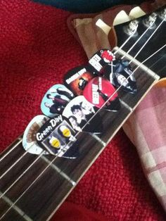 Some Green Day guitar picks