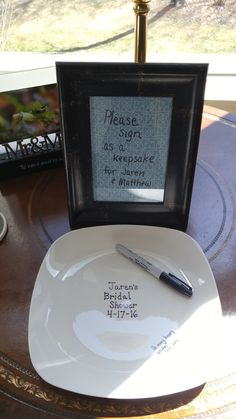 bridal shower dollar store plate guest book baked at 425 degrees for 30 minutes