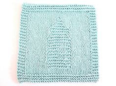 Knit Washcloth Baby Bottle Robin's Egg Blue Cotton
