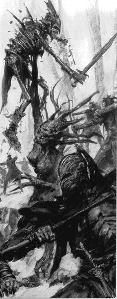 Wood Elves traditionally fight alongside spirits of the forest