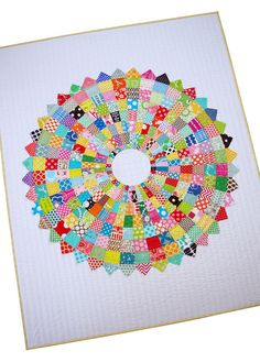 Red Pepper Quilts: Giant Dresden Plate Quilt - A Finished Quilt