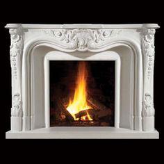 Italia Classic Stone Fireplace Mantel - MantelsDirect.com