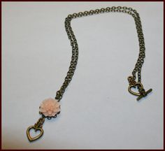 Resin Flower with Heart Necklace by TKDShop on Etsy, $15.99