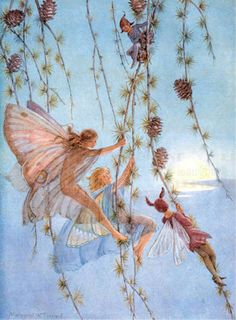 ≍ Nature's Fairy Nymphs ≍ magical elves, sprites, pixies and winged woodland faeries - M.argaret Tarrant