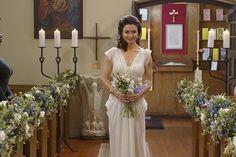 'Grey's Anatomy's' Caterina Scorsone Goes Inside Amelia's Big Wedding Decision Amelia Wedding, Wedding Bride, Wedding Gowns, Wedding Day, Wedding Album, Wedding Story, Wedding Tips, Wedding Flowers, Wedding Dress Sizes