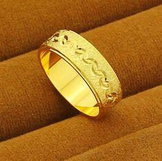 romantic 24k Gold Plated Rings For Women