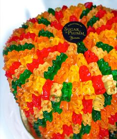 gummy bears cake!!! Oh my!! Gummy bears are my all time favorite candy. For real. =)