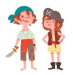 http://knackis.blogspot.com.es/ Children's Book Illustration, Pirate Illustration, People Illustration, Character Illustration, Character Design References, Game Character Design, Kid Character, Cartoon Kids, Cartoon Drawings