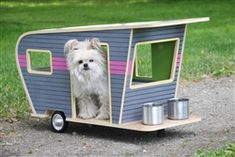 Pet Camper Retro Trailer Bed - Beds, Blankets & Furniture - Furniture Style Beds Posh Puppy Boutique