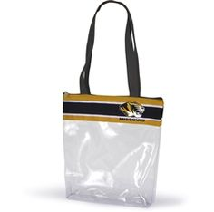 Clear Gameday Stadium Tote. Our new Clear Gameday tote is stadium approved and perfectly sized for all of your game day must haves. Clear stadium tote features zipper closure, lengthy straps and full color ribbon detail with your team logo. USA Made #clearbag #stadiumtote #desden