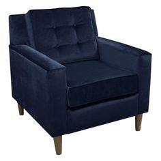 Navy Clybourn Loft Chair Velvet