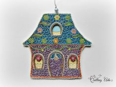 Christmas quilling house  ornament tree-quilling by PaperArtbyAda