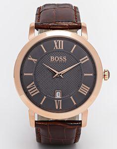 Image 1 of Hugo Boss Leather Strap Watch 1513138 Hugo Boss Watches, Watches For Men, Men's Watches, Montres Hugo Boss, Asos, Hugo By Hugo Boss, Watch Blog, 21 Men, Bracelet Cuir