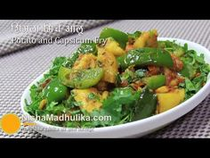 Today we will make Simla Mirch Aur Aloo recipe. You can easily know Ingredients and How to Make Simla Mirch Aur Aloo step by step recipe. Capsicum Recipes, Aloo Recipes, Cookbook Recipes, Potato Recipes, Indian Food Recipes, Vegetarian Recipes, Healthy Recipes, Ethnic Recipes, Kitchens
