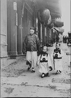"Arnold Genthe: ""Children of high class, Chinatown, San Francisco.""  Photographic negative made between 1896 and 1906."