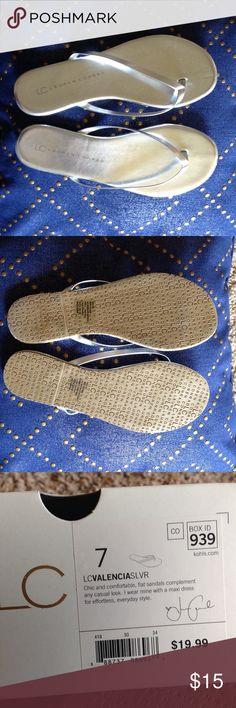 LC Lauren Conrad silver sandals size 7 new in box LC Lauren Conrad silver sandals size 7 new in box LC Lauren Conrad Shoes Sandals