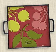 Juicy Fruits customizable serving tray by Carol Fazio for ruvacards.com. $35.99/ea.  https://www.ruvacards.com/product/345.11.1/Juicy-Fruits.html