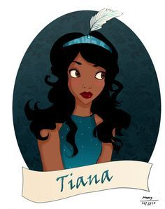Fanart de Tiana, elle laisse tomber le vert pour une couleur beaucoup plus commune chez les princesses ; le bleu !