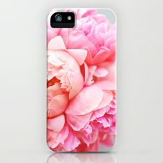 I love Peonies!! my favorite flowers in the whole wide world! Peonies Forever iPhone & iPod Case by Ez Pudewa - $35.00