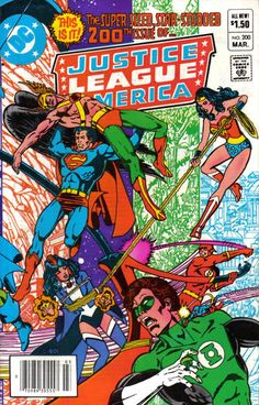 Cover for Justice League of America (1960 series) #200 [Newsstand]