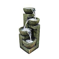 """Stone Bowls 4-Tier Indoor - Outdoor 24"""" High Floor Fountain"""