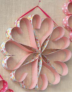 Love heart paper chain idea