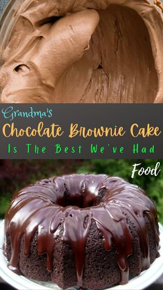 Just Desserts, Delicious Desserts, Yummy Food, Sweet Recipes, Cake Recipes, Dessert Recipes, Chocolate Brownie Cake, Cupcake Cakes, Bundt Cakes