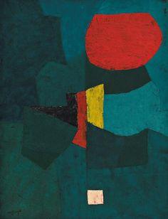 SERGE POLIAKOFF (1900-1969) - VERT AU CERCLE ROUGE