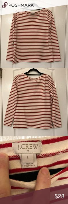I just added this listing on Poshmark: J Crew Long Sleeve Striped Boatneck T Shirt. #shopmycloset #poshmark #fashion #shopping #style #forsale #J. Crew #Tops