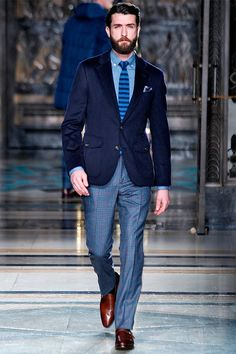 These shades of blue work great together. The men in my office all dress well, this would turn some heads.