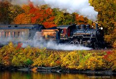 Sit back and let someone else drive while you take in the color aboard Essex Steam Train and Riverboat. Take a 2 1/2 hour old-fashioned steam train and riverboat ride through the Connecticut River Valley. Guests will enjoy a bursting array of red, orange, yellow and gold foliage as they tour the countryside and the Connecticut River.