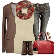 Fall Red, created by lagu on Polyvore