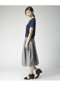 Margaret Howell / Fine Gathered Skirt | La Garçonne