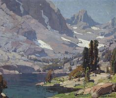 "shear-in-spuh-rey-shuhn: "" EDGAR PAYNE Sierra Lake Oil on Canvas 25"" x 30"" """