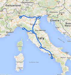 Italy Route, 2 Weeks.