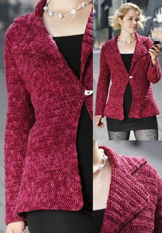 Crocheted Blazer - free crochet pattern from Punta Yarns