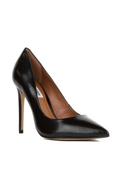 9dc25a022e62 Steve Madden Black Leather Proto Pointed Toe Pumps