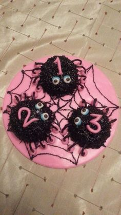 Pink Spider Birthday Cake